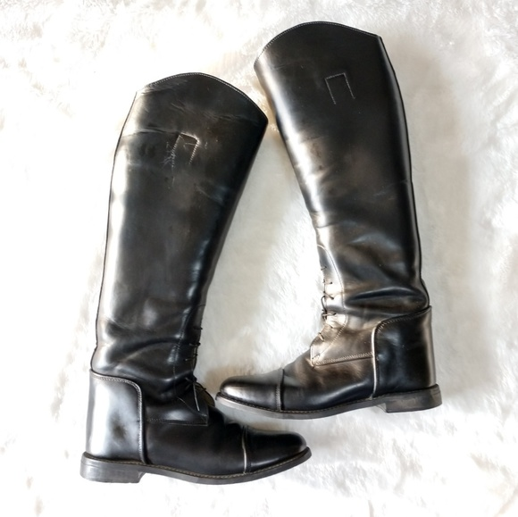 2c5eff9a7f3 Vintage Leather Equestrian Riding Boots